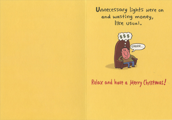 Wasting Money Funny Humorous Christmas Card By Recycled