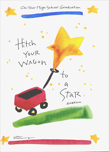 Wagon To A Star Graduation Congratulations Card By