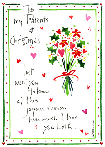 Just Want You To Know Christmas Card By Recycled Paper