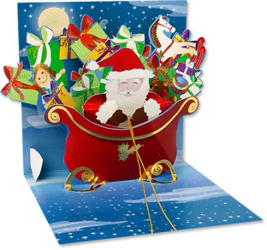 Santa With Gifts Pop Up Christmas Card By Up With Paper