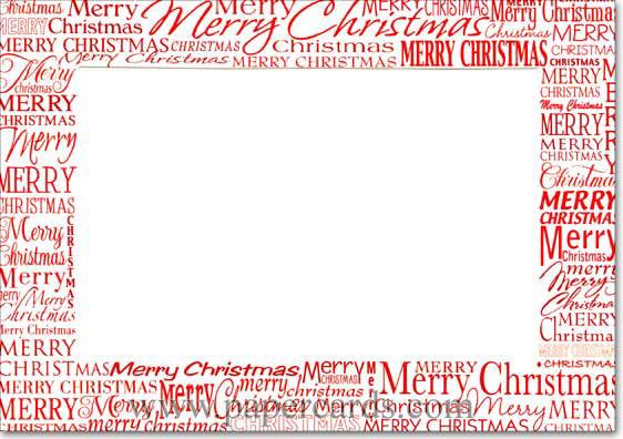 Red Merry Christmas Photo Holders Designer Greetings Box