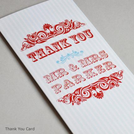 Wedding Stationery -Thank You Card