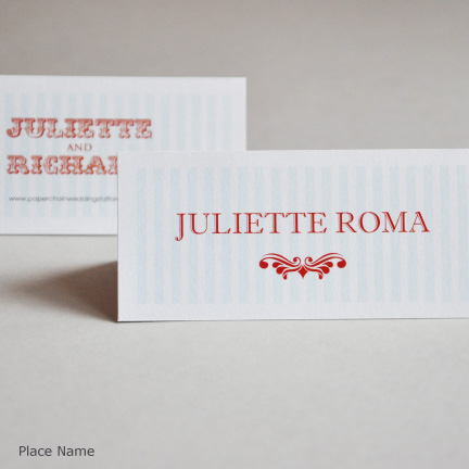 Wedding Stationery Place cards