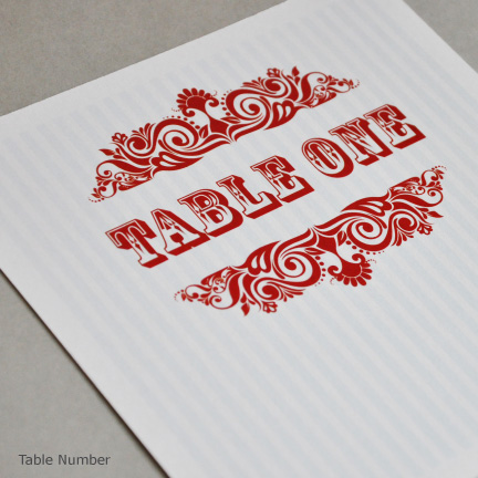 Wedding Stationery Place numbers or Names