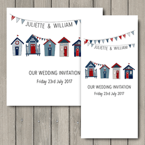 Lovebirds Wedding Invite - DL and Square format