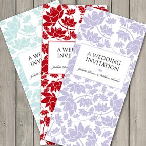 Wedding Stationery – Free Colour Matching