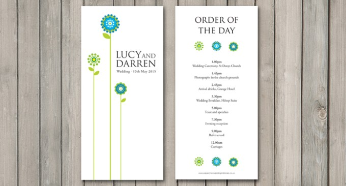 Daisy Wedding Stationery