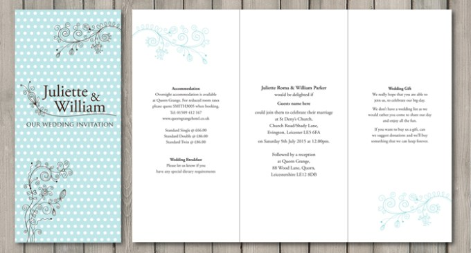 Dotty Wedding Stationery