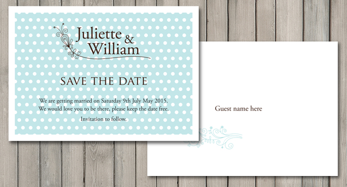 Dotty Wedding Stationery