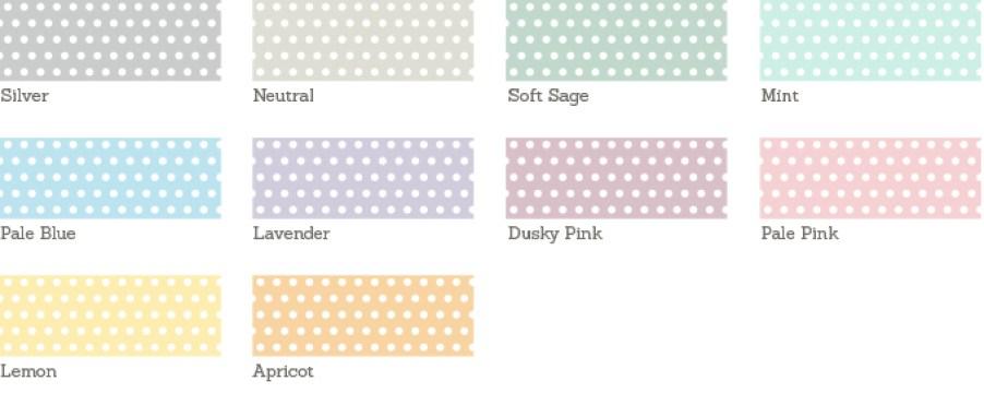 Dotty Wedding Sample Colours