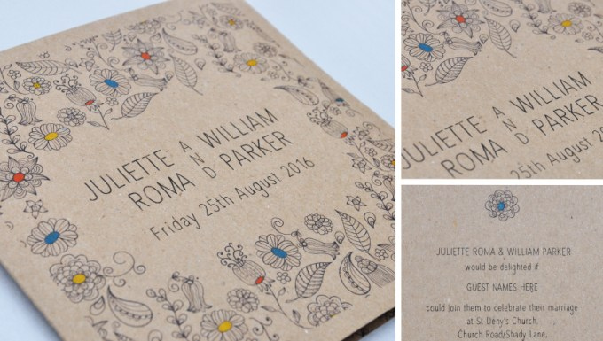 Natural Wedding Stationery