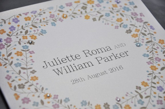 sparkly wedding stationery