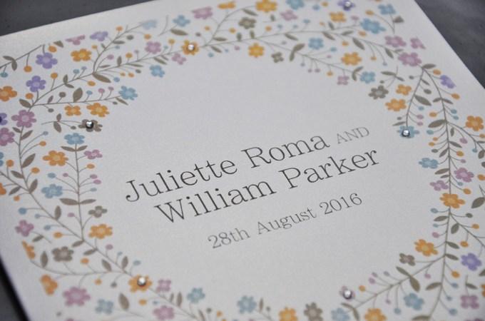 sparkly wedding stationery