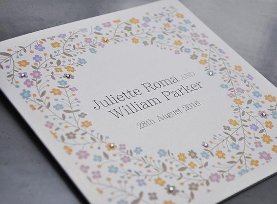sparkles wedding invitation