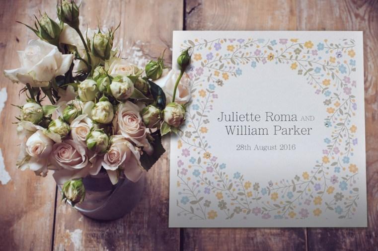Sparkle Square Wedding invitation