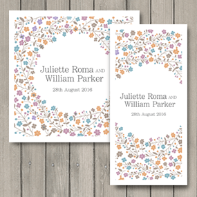 Sparkle Wedding Invite - DL and Square format
