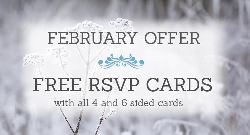 February Wedding Stationery Sale
