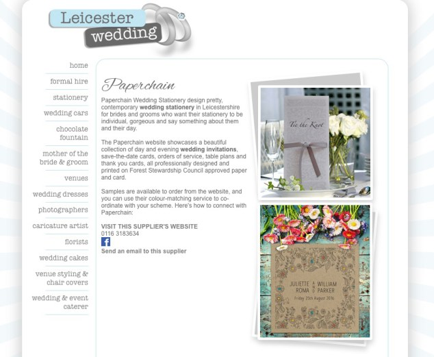 wedding stationery Leicester