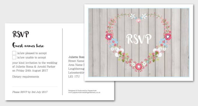 Amour Wedding Stationery