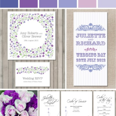 Perfect Purple Wedding Stationery