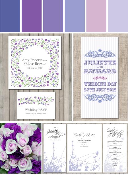 Perfect Purple wedding stationery