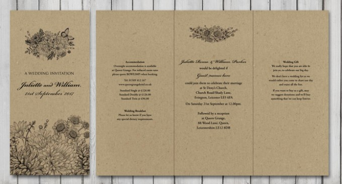 Botanical Garden Wedding Stationery
