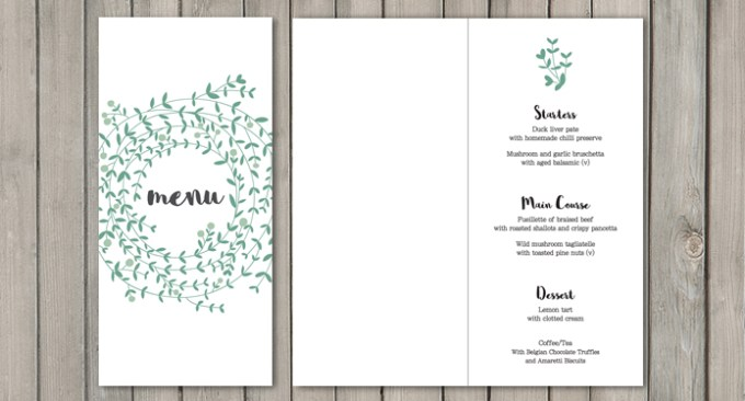 Wreath White Wedding Stationery