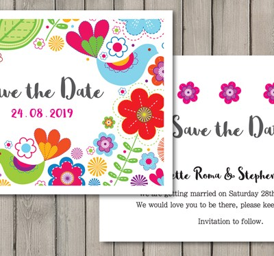 Re-vamped Sunshine Wedding Stationery