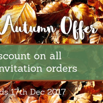 Amazing Autumn Wedding Invitation Offer