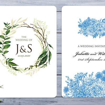Stunningly Simple A5 Wedding Invitations