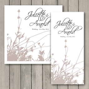 Summer Breeze DL and square wedding invitations part of the full wedding stationery collection