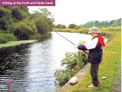 Fishing the Forth & Clyde canal at Kilsyth