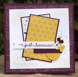 Paper Craft Crew Card Sketch #106 design team submission by Christyne Richardson