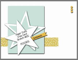 Paper Craft Crew Card Sketch #105 for August 13, 2014 #stampinup #cardchallenge #papercraftcrew