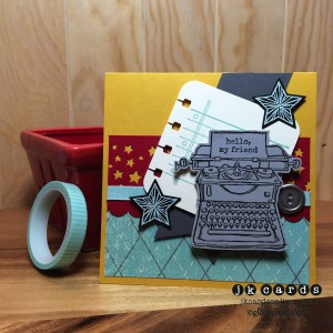 Paper Craft Crew Card Sketch #109 design team submission by Justin Krieger