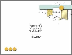 Paper Craft Crew Card Sketch 120 #cardsketch #stampinup #papercraftcrew