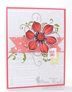 Paper Craft Crew Card Sketch #127 design team submission by Pam Staples. #stampinup #papercrafts #pamstaples #sunnygirlscraps