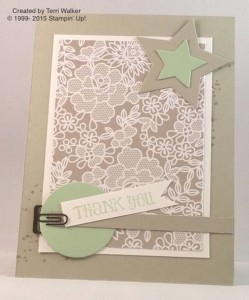 Paper Craft Crew Card Sketch #133 design team submission by Terri Walker. #stampinup #papercraftcrew #terriwalker