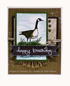 Paper Craft Crew Card Sketch #137 design team submission by Heidi Weaver. #stampinup #papercraftcrew #heidiweaver