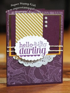 Paper Craft Crew Card Sketch #137 design team submission by Crystal Komara. #stampinup #papercraftcrew #crystalkomara