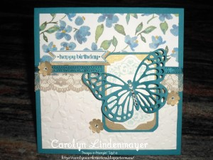 Paper Craft Crew Card Sketch #139 design team submission by Carolyn Lindenmayer. #stampinup