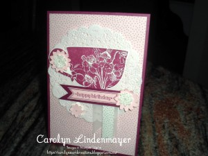 Paper Craft Crew Card Sketch #140 design team submission by Carolyn Lindenmayer. #stampinup