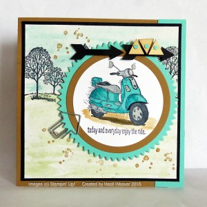 Paper Craft Crew Card Sketch #142 design team submission by Heidi Weaver. #stampinup #papercraftcrew #heidiweaver