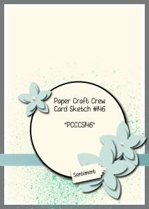Paper Craft Crew Card Sketch 146. #stampinup #papercraftcrew