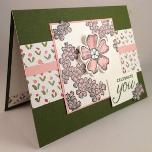 Paper Craft Crew Card Sketch #151 design team submission by Terri Walker. #stampinup #terriwalker