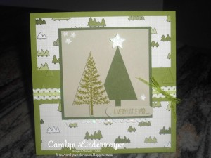 Paper Craft Crew Card Sketch #151 design team submission by Carolyn Lindenmayer. #stampinup