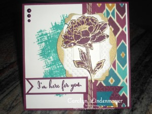 Paper Craft Crew Card Sketch #148 design team submission by Carolyn Lindenmayer. #stampinup