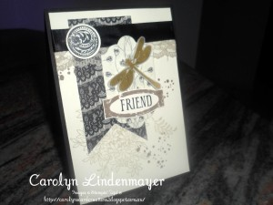 Paper Craft Crew Card Sketch #149 design team submission by Carolyn Lindenmayer. #stampinup