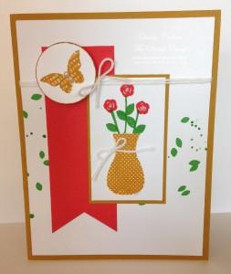 Paper Craft Crew Card Sketch #149 design team submission by Glenda Calkins. #stampinup #papercrafts #glendacalkins