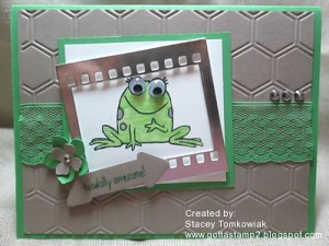 Paper Craft Crew Card Sketch #150 design team submission by Stacey Tomkowiak. #stampinup #papercraftcrew #staceytomkowiak